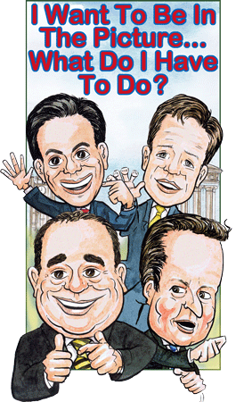 UK Caricaturists group political caricature with Scottish First Minister of Scotland and British Prime Minister.