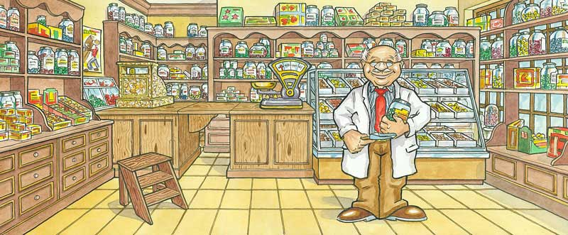 Scottish website banner cartoons for businesses and online web shopping sites