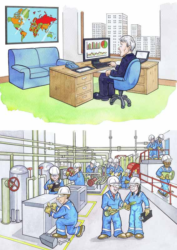Scottish cartoonists permit to work health and safety cartoons for oil company in Scotland